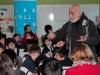 Escritor Mario Salazar visitó la Escuela del Poniente